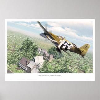 North American P-51B Mustang 'Berlin Express' Poster