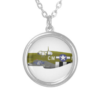 North American P-51B Mustang Necklace