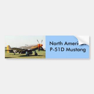 North American P-51D Mustang Bumper Sticker