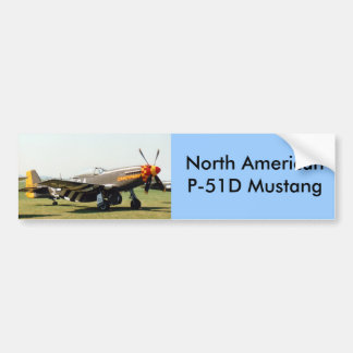 North American P-51D Mustang Car Bumper Sticker