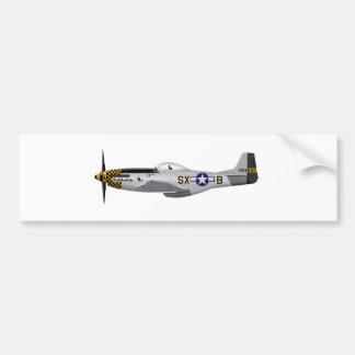 """North American P-51D Mustang """"Double Trouble Two"""" Bumper Sticker"""