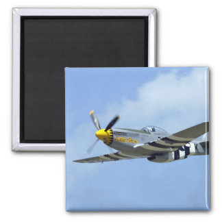 North American P-51D Mustang, Little Horse 2 Inch Square Magnet