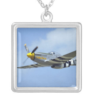 North American P-51D Mustang, Little Horse Square Pendant Necklace