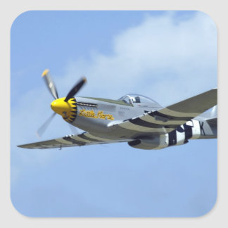 North American P-51D Mustang, Little Horse Square Sticker