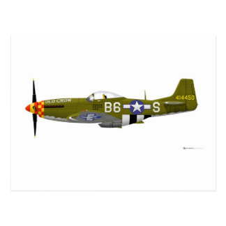 """North American P-51D Mustang """"Old Crow"""" Postcard"""