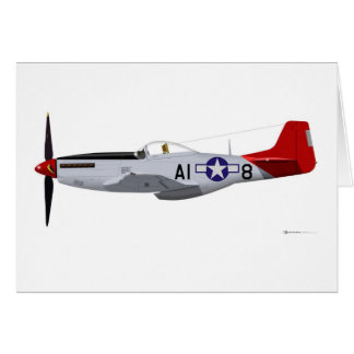North American P-51D Mustang Tuskegee Airmen Greeting Card