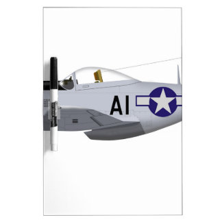 North American P-51D MustangTuskegee Airmen Dry-Erase Whiteboard