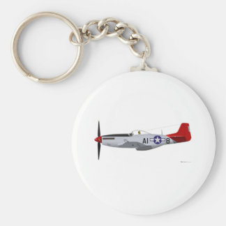 North American P-51D Mustang Tuskegee Airmen Keychain
