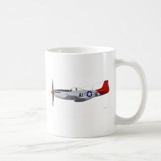 North American P-51D MustangTuskegee Airmen Classic White Coffee Mug