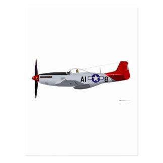 North American P-51D Mustang Tuskegee Airmen Post Card