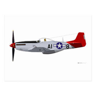 North American P-51D Mustang Tuskegee Airmen Postcards