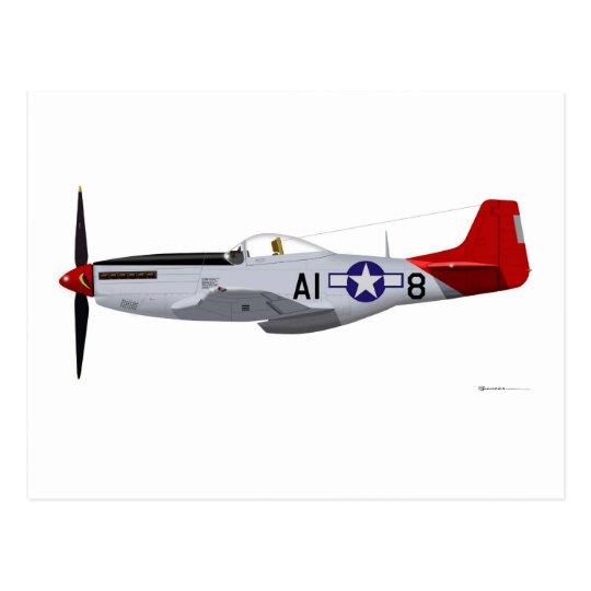 North American P-51D MustangTuskegee Airmen Postcard