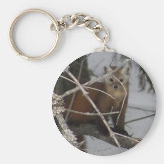 North American Pine Marten Keychain