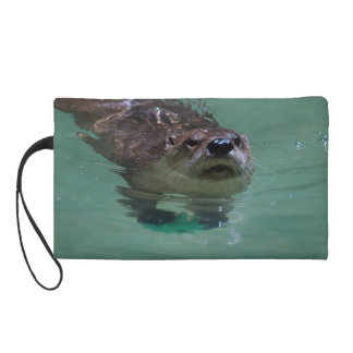 North American River Otter Wristlet Clutches