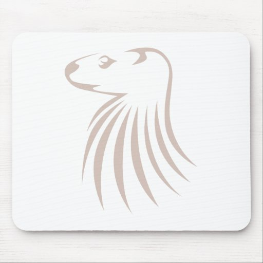 North American River Otter in Swish Drawing Style Mouse Pad