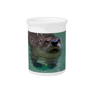 North American River Otter Drink Pitcher
