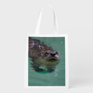 North American River Otter Grocery Bags