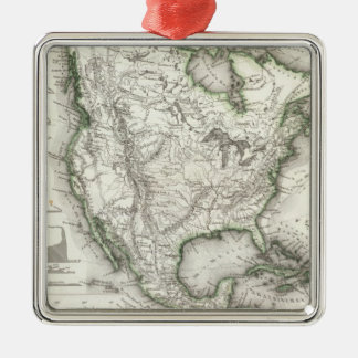 North American Rivers and Mountains Metal Ornament