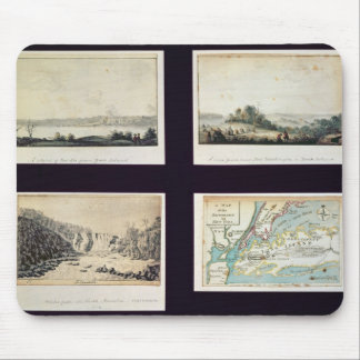 North American Scenes and a map of New York Mouse Pad