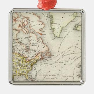 North American Shipping Metal Ornament