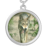 North American Sly Red Wolf Pendants