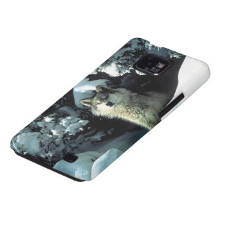 North American Timber Wolf in Snow Samsung Galaxy SII Cover