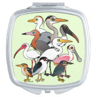 North American Waders Square Compact Mirror