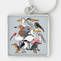 North American Waders Premium Square Keychain