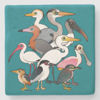 North American Waders Limestone Coaster