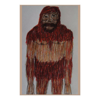 North American wood ape 5.6 ft tall Poster