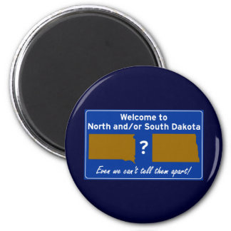 North and/or South Dakota Magnet