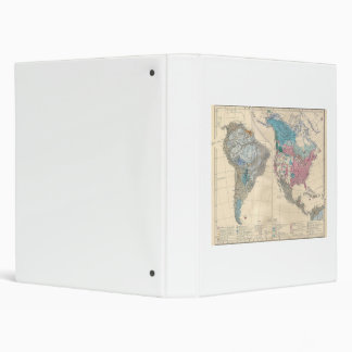 North and South America Ethnic Map from 1880 Vinyl Binders