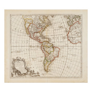 Historical Map Of North America Posters Photo Prints Zazzle
