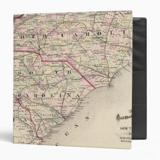North and South Carolina 4 3 Ring Binder