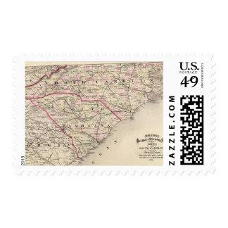 North and South Carolina 4 Stamp
