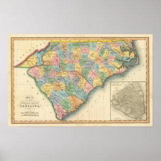 North and South Carolina 5 Poster