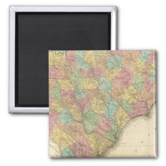 North and South Carolina 2 Inch Square Magnet