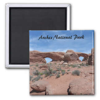 North and South Windows- Arches National Park 2 Inch Square Magnet