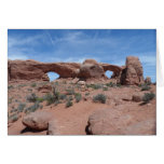 North and South Windows- Arches National Park Greeting Card