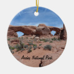 North and South Windows- Arches National Park Double-Sided Ceramic Round Christmas Ornament