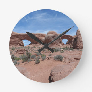 North and South Windows- Arches National Park Round Clock