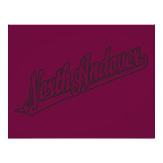 """North Andover script logo in outline 8.5"""" X 11"""" Flyer"""