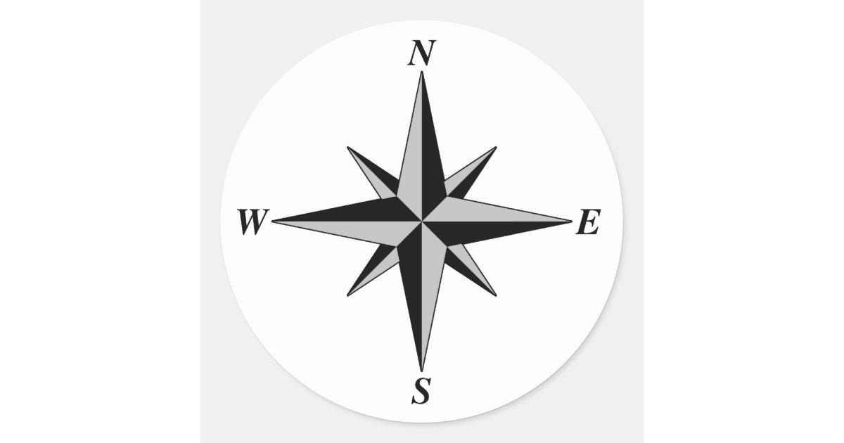 north arrow sticker