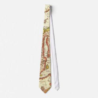 North Atlantic Map 1595 Neck Tie