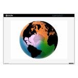 """North Atlantic Ocean Current Map 15"""" Laptop Skins"""