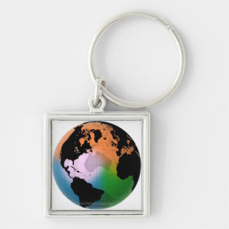 North Atlantic Ocean Current Map Keychain