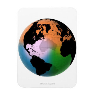 North Atlantic Ocean Current Map Magnet