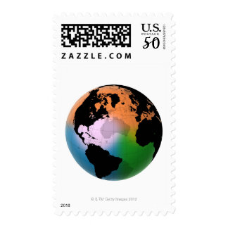 North Atlantic Ocean Current Map Postage
