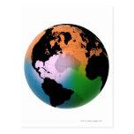 North Atlantic Ocean Current Map Postcards