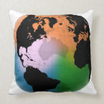 North Atlantic Ocean Current Map Throw Pillow